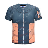Naruto Cosplay Training Compression T-Shirts for Men Fitness