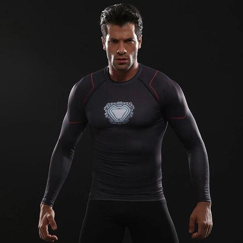 Iron Man Cosplay Training Compression Long Sleeves for Men Fitness 04 - Cosplay Fitness | KiTak