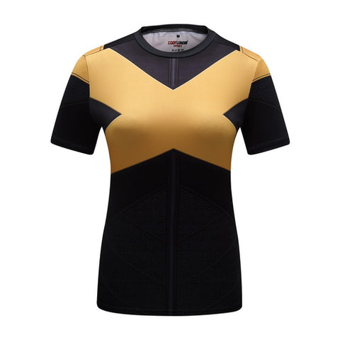 X-Men Dark Phoenix Cosplay Training Compression T-Shirts for Women Fitness
