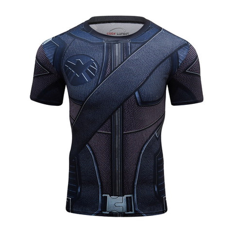 Hawkeye Cosplay Training Compresson T-Shirts for Men Fitness 1