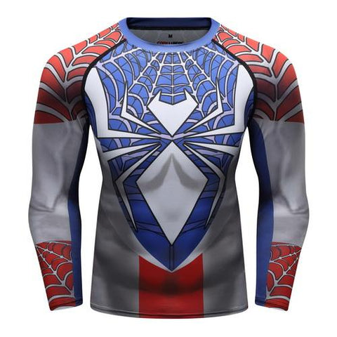 Spider-Man Workout Compression Long Sleeves for Men 04