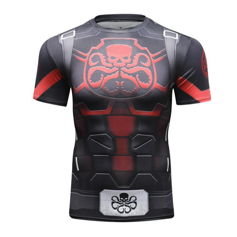 Captain America HYDRA Workout Compression T Shirts for Men