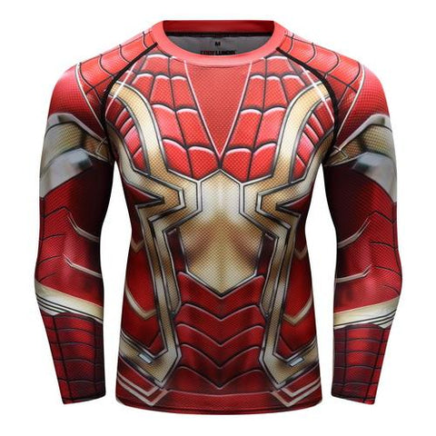 Spider-Man Cosplay Training Compression Long Sleeves for Men Fitness 07 - Cosplay Fitness | KiTak