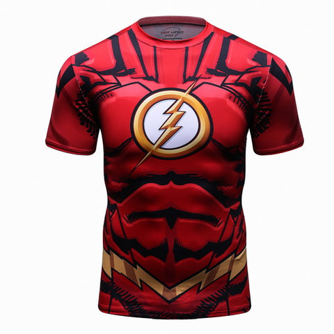 The Flash Cosplay Training Compression T-Shirts for Men Fitness 1