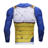 Battle Damaged Vegeta Cell Workout Compression Long Sleeves