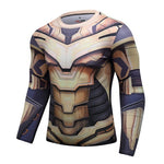 Thanos Full Gears Workout Compression Long Sleeves for Men(2019 Avengers Endgame) 1