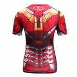Iron Man Cosplay Training Compression T-Shirts for Women Fitness(MK43)