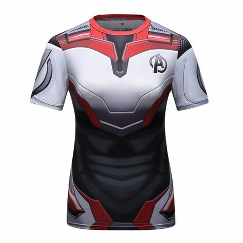 Quantum Realm Cosplay Training Compression T-Shirts for Women Fitness