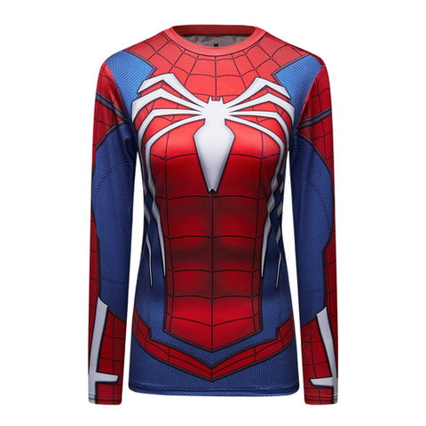 Spider-Man Workout Compression Long Sleeves for Women(PS4 ADVANCED SUIT)