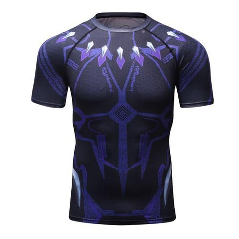 Black Panther Workout Compression T Shirts for Men 02