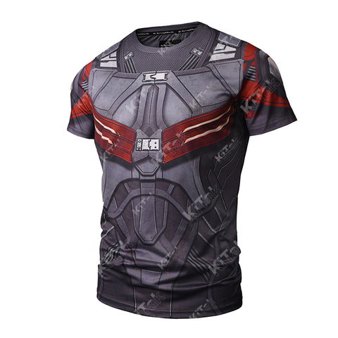 Falcon Cosplay Training Compression T-Shirts for Men Fitness