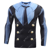 Sanji Cosplay Training Compression Long Sleeves for Men Fitness