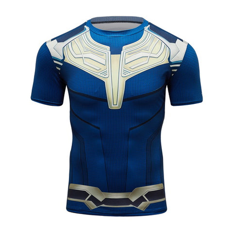 Thanos Full Gears Cosplay Training Compression T-Shirts for Men Fitness 3(2019 Endgame)