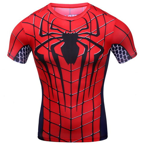 Spider-man Workout Compresson T Shirts for Men 4