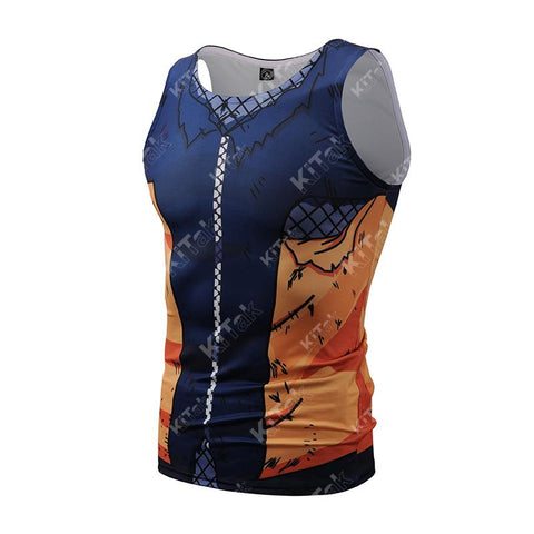 Battle Damaged Teen Naruto Workout Compression Tank Tops for Men