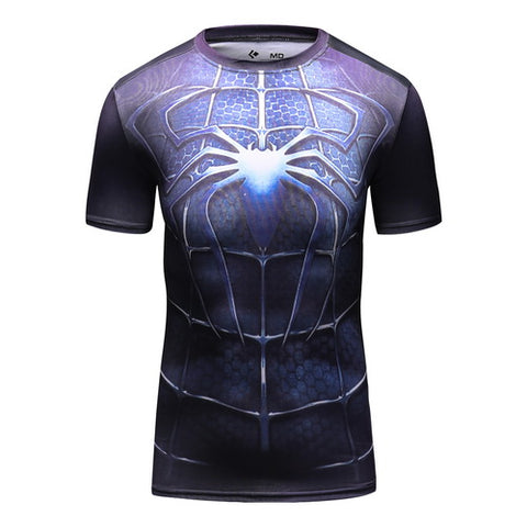 Spider-Man Workout Compresson T Shirts for Women