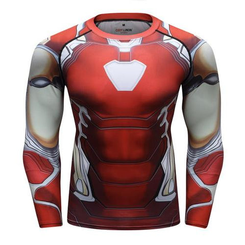 Iron Man Cosplay Training Compression Long Sleeves for Men Fitness 03 - Cosplay Fitness | KiTak