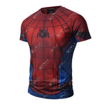 Spider-Man Workout Compression T Shirts for Men(2017: Homecoming)