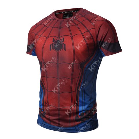 Spider-Man Workout Compression T Shirts (2017: Homecoming)