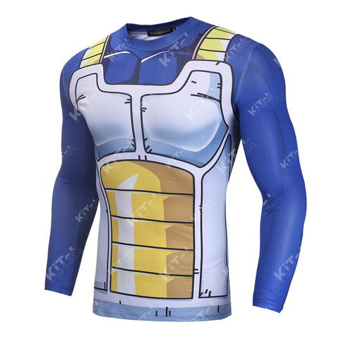 Vegeta Cell Workout Compression Long Sleeves for Men