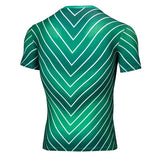 Green Lantern Cosplay Training Compression T-Shirts for Men Fitness