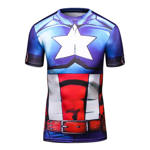 Captain America Workout Compresson T Shirts for Men 3