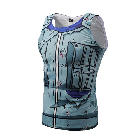 Battle Damaged Kakashi Workout Compression Tank Tops