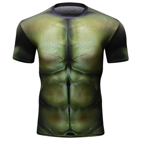 Hulk Cosplay Training Compresson T-Shirts for Men Fitness 4