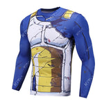 Battle Damaged Vegeta Cell Workout Compression Long Sleeves for Men