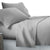 King Size 4 Piece Micro Fibre Sheet Set - Grey