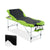 3 Fold Portable Aluminium Massage Table - Green & Black