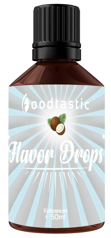 Foodtastic Flavor Drops 50ml Kokosnuss - Foodtastic Shop