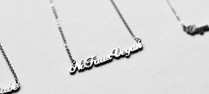 scrip necklace personalised necklace vegan necklace