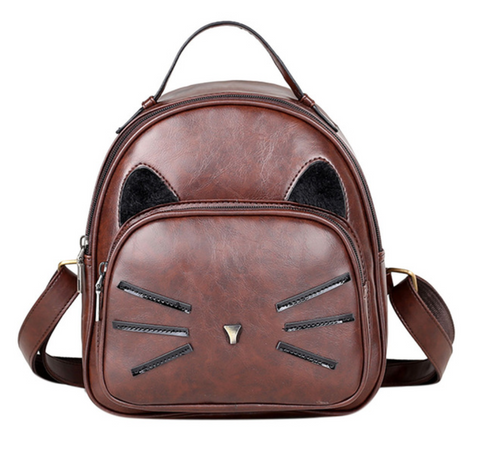Cat lover cat backpack cat rucksack PU leather fake leather cat lover vegan friendly vegan gift school bag festival bag childrens bag vegan friendly