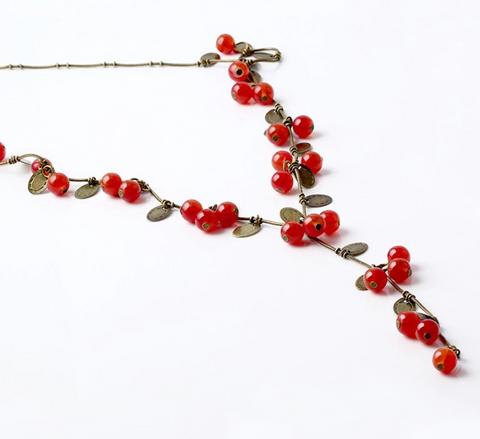 Redcurrant Copper Necklace