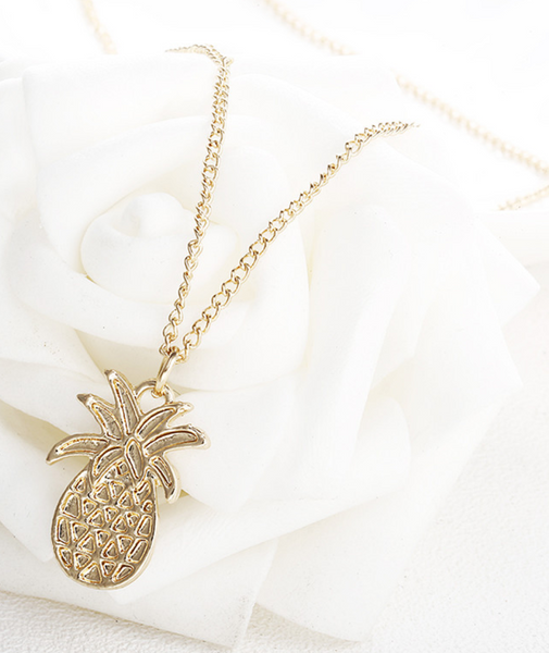 Gold Pineapple Necklace