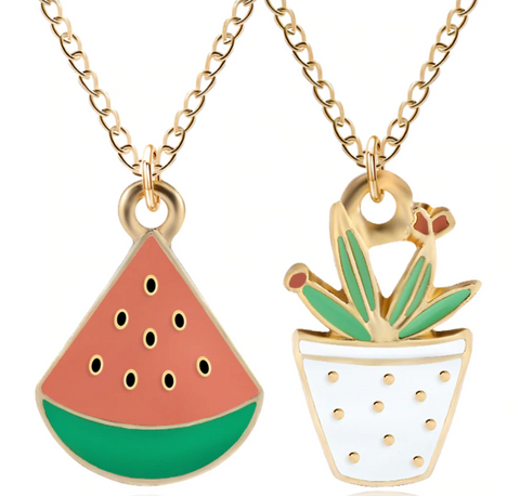 Funky Charm Enamel Necklaces