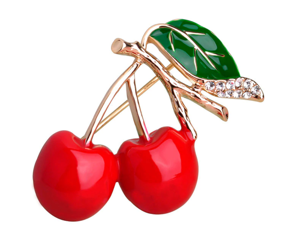 Cheeky Cherries Brooch
