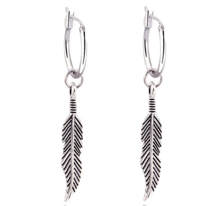 Leilani Feather Hoops