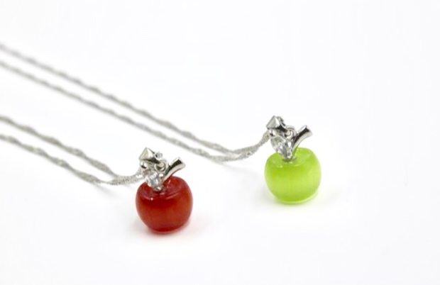 Apple Charm Necklaces