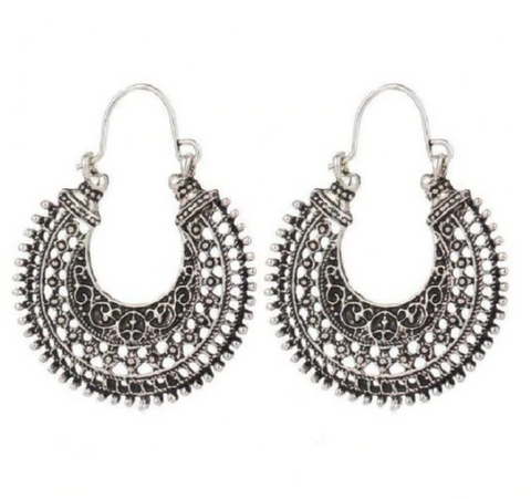indian style ethnic hoops