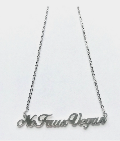 No Faux Vegan Necklace