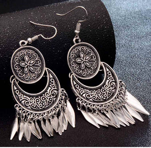 dream catcher boho ethnic hippy gypsy silver earrings