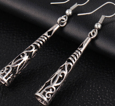 Silver dangle hippy ethnic bohemian gypsy earrings