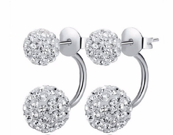 double sided Korean crystal earrings