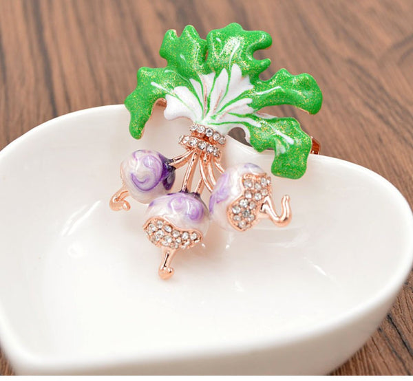 Ravishing Radish Brooch