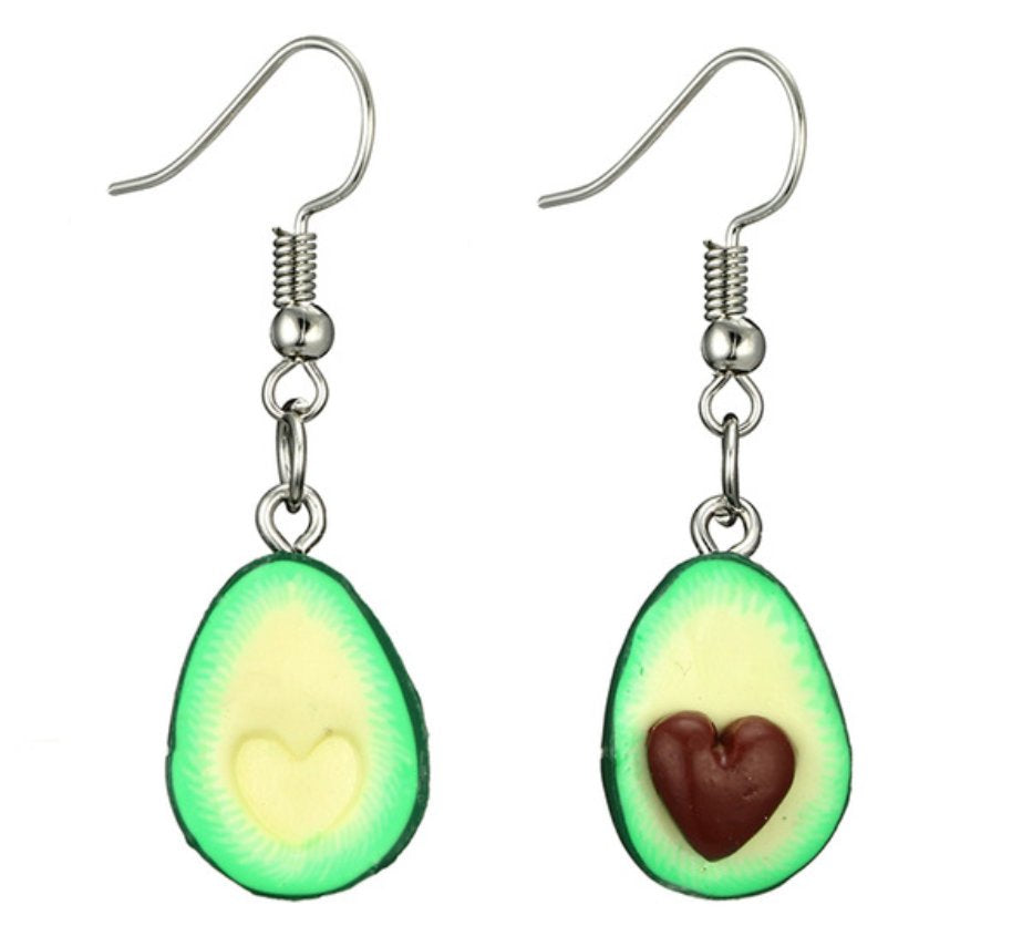 Avocado Vegan love funky dangle earrings