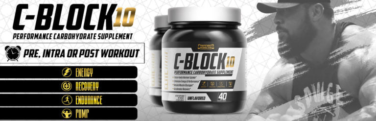 C-Block 10 is the ultimate athletic performance carbohydrate that digests rapidly, is easy on the stomach, and doesn't spike insulin levels.