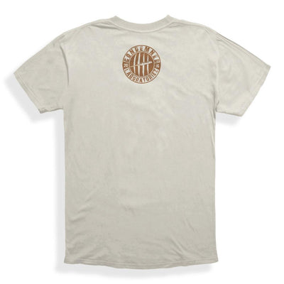 Condemned Labz Original Logo T-Shirt Sand With Brown Print APPAREL Condemned Labz
