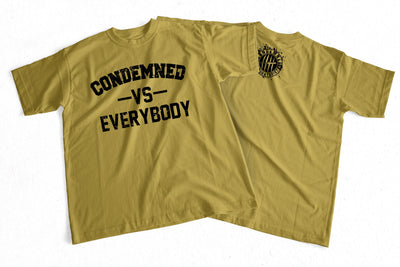 Condemned Labz Vs Everybody Tee Gold APPAREL Condemned Labz SMALL
